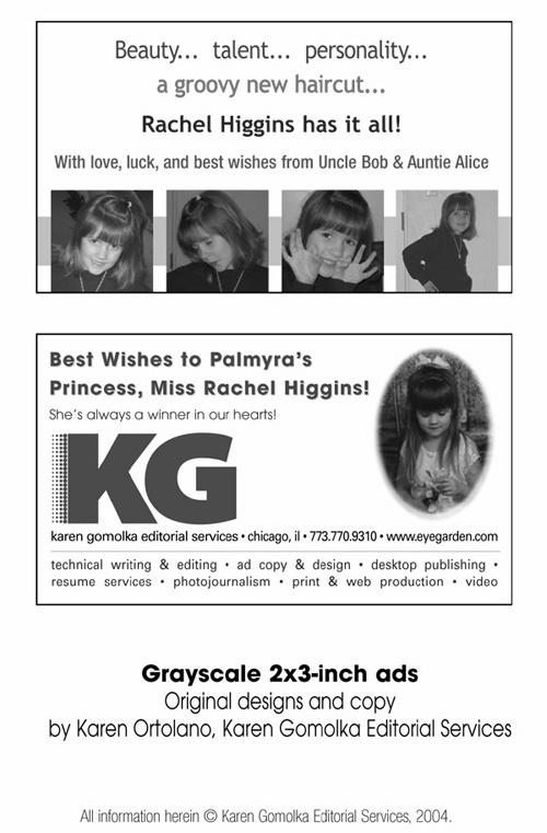 karen gomolka editorial services  promotional materials